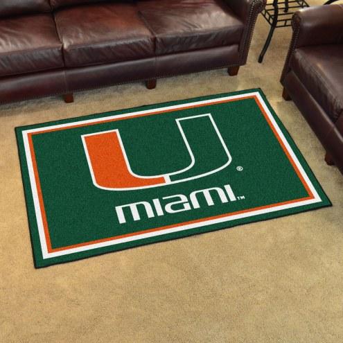 Miami Hurricanes 4' x 6' Area Rug