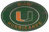 "Miami Hurricanes 46"" Heritage Logo Oval Sign"