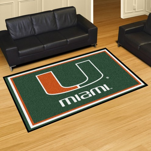 Miami Hurricanes 5' x 8' Area Rug