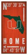 "Miami Hurricanes 6"" x 12"" Coordinates Sign"