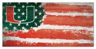 "Miami Hurricanes 6"" x 12"" Flag Sign"