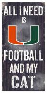 "Miami Hurricanes 6"" x 12"" Football & My Cat Sign"