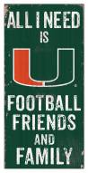 "Miami Hurricanes 6"" x 12"" Friends & Family Sign"