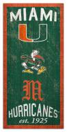"Miami Hurricanes 6"" x 12"" Heritage Sign"