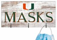 "Miami Hurricanes 6"" x 12"" Mask Holder"