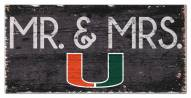"Miami Hurricanes 6"" x 12"" Mr. & Mrs. Sign"