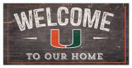 """Miami Hurricanes 6"""""""" x 12"""""""" Welcome Sign"""