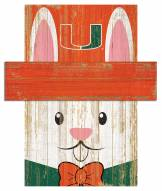 "Miami Hurricanes 6"" x 5"" Easter Bunny Head"