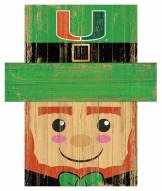 "Miami Hurricanes 6"" x 5"" Leprechaun Head"