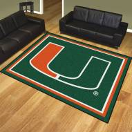 Miami Hurricanes 8' x 10' Area Rug