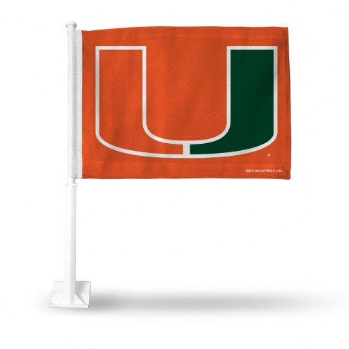 Miami Hurricanes All About the U Car Flag