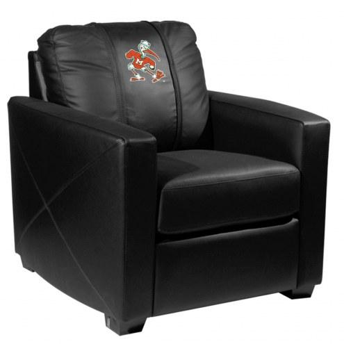 Miami Hurricanes XZipit Silver Club Chair