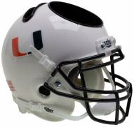 Miami Hurricanes Alternate 2 Schutt Football Helmet Desk Caddy