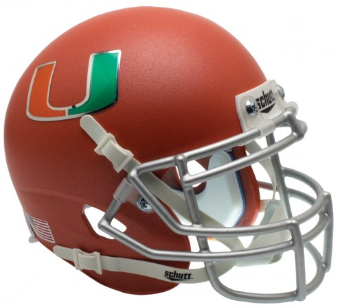 Miami Hurricanes Alternate 3 Schutt XP Collectible Full Size Football Helmet