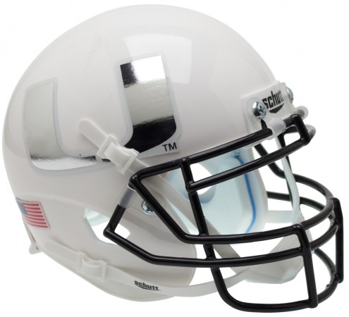 Miami Hurricanes Alternate 4 Schutt Mini Football Helmet