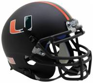 Miami Hurricanes Alternate 7 Schutt Mini Football Helmet