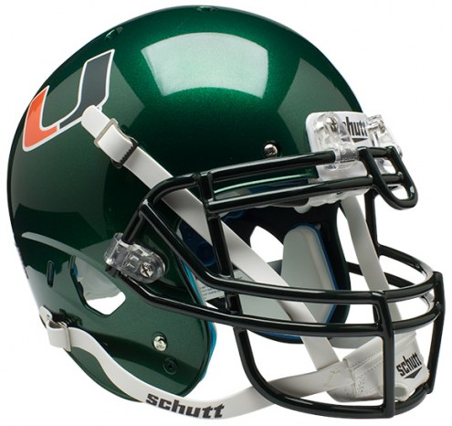 Miami Hurricanes Alternate Schutt XP Authentic Full Size Football Helmet