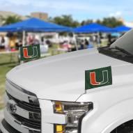 Miami Hurricanes Ambassador Car Flags