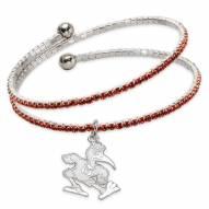 Miami Hurricanes Amped Logo Crystal Bracelet