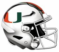 Miami Hurricanes Authentic Helmet Cutout Sign