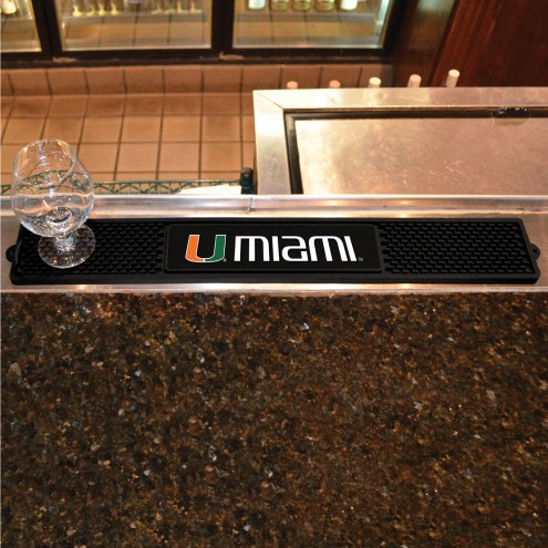 Miami Hurricanes Bar Mat