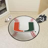 Miami Hurricanes Baseball Rug