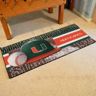 Miami Hurricanes Baseball Runner Rug