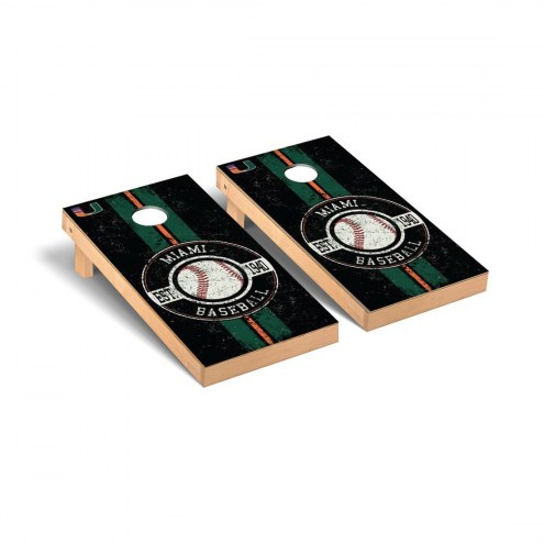 Miami Hurricanes Baseball Vintage Cornhole Game Set