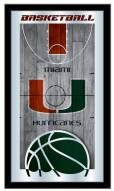 Miami Hurricanes Basketball Mirror