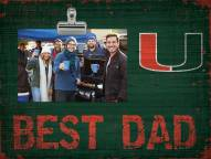 Miami Hurricanes Best Dad Clip Frame