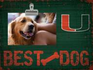 Miami Hurricanes Best Dog Clip Frame