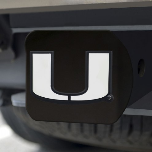 Miami Hurricanes Black Matte Hitch Cover
