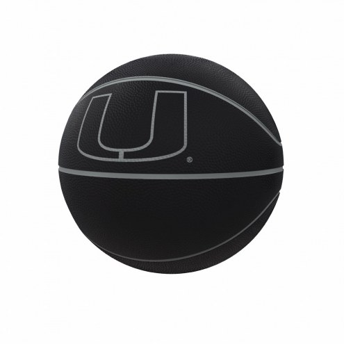Miami Hurricanes Blackout Full-Size Composite Basketball