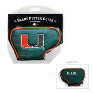 Miami Hurricanes Blade Putter Headcover