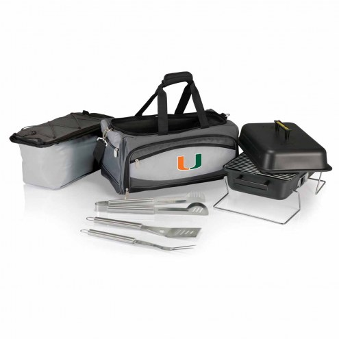 Miami Hurricanes Buccaneer Grill, Cooler and BBQ Set