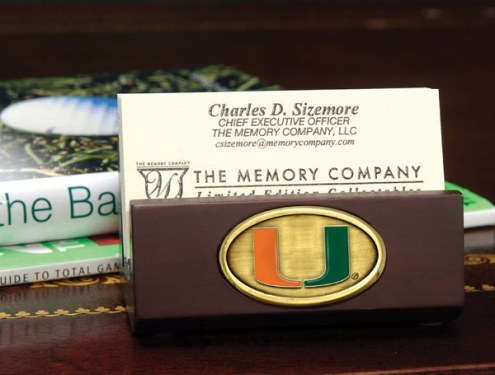Miami Hurricanes Business Card Holder