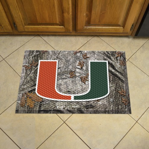 Miami Hurricanes Camo Scraper Door Mat