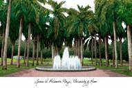 Miami Hurricanes Campus Images Lithograph