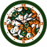 Miami Hurricanes Candy Wall Clock