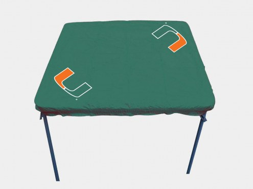 Miami Hurricanes Card Table Cover