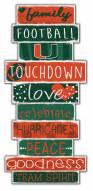Miami Hurricanes Celebrations Stack Sign
