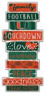 Miami Hurricanes Celebrations Stack Sign