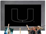 Miami Hurricanes Chalkboard with Frame