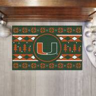 Miami Hurricanes Christmas Sweater Starter Rug
