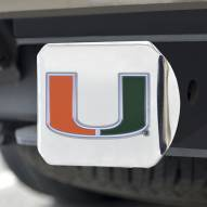 Miami Hurricanes Chrome Color Hitch Cover