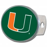 Miami Hurricanes Class II and III Oval Metal Hitch Cover