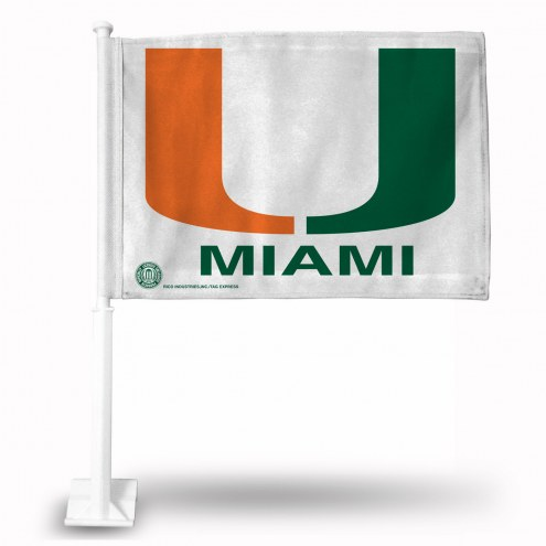 Miami Hurricanes College Car Flag
