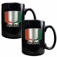 Miami Hurricanes College 2-Piece Ceramic Coffee Mug Set