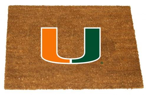 Miami Hurricanes Colored Logo Door Mat