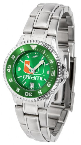 Miami Hurricanes Competitor Steel AnoChrome Women's Watch - Color Bezel